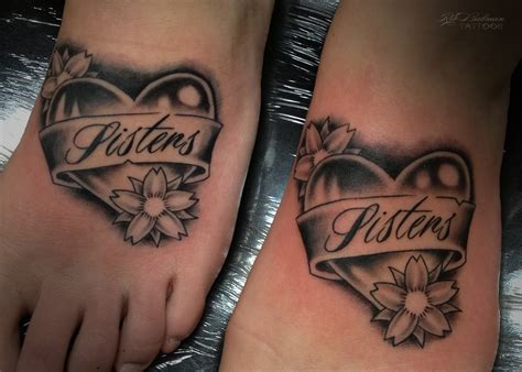 19 sweet sister tattoos on foot