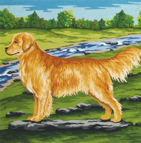 golden retriever needlepoint needlepointus world class needlepoint golden retriever collection d