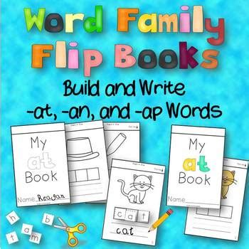building a family books word family flip books build and write at an ap