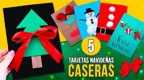 imagenes de manualidades navidenas para ninos 5 tarjetas de navidad caseras f 225 ciles para ni 209 os