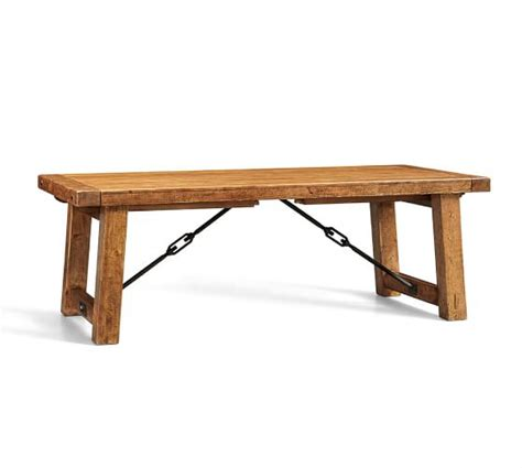 Benchwright Dining Table Benchwright Extending Dining Table Vintage Spruce Pottery Barn