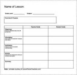 easy lesson plan template simple lesson plan template besttemplates123