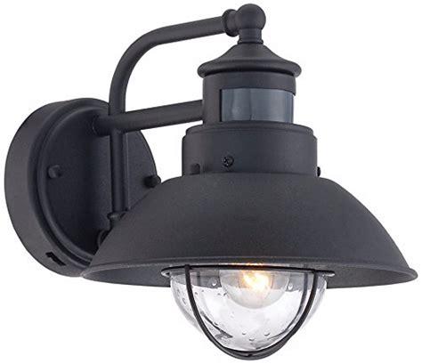 Front Door Sensor Light Fallbrook 9 Quot H Black Dusk To Motion Sensor Outdoor Light