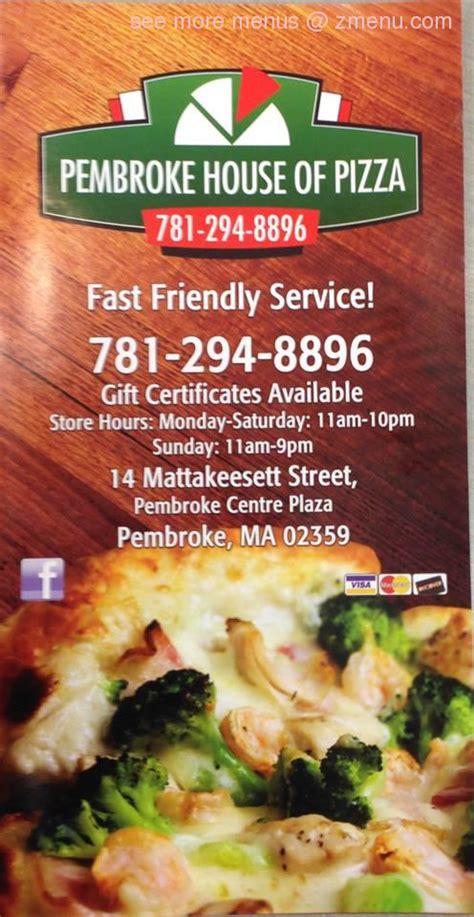 pembroke house of pizza online menu of pembroke house of pizza restaurant