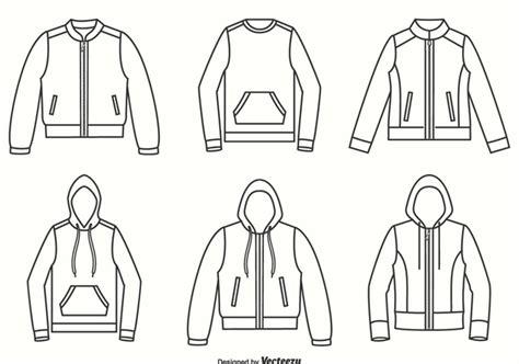 jacket design vector free descargar vector chaquetas sudaderas y su 233 ter contorno