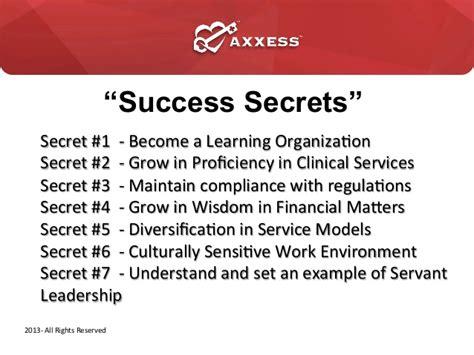 The Seccret Of Success quot secrets to home health agency success quot