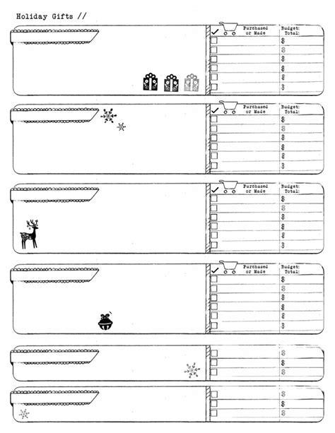 room planner free printable holiday gifts list amanda hawkins