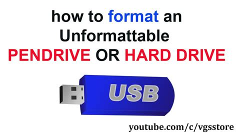 Format Hard Disk Using Pendrive | how to format unformattable pen drive or hard disk youtube
