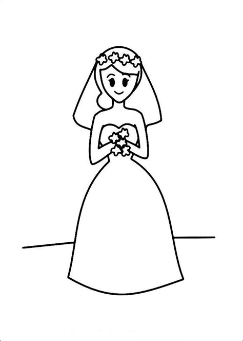 free coloring pages of bride and groom