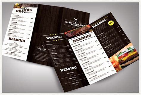 modern menu template 50 best restaurant menu templates both paid and free