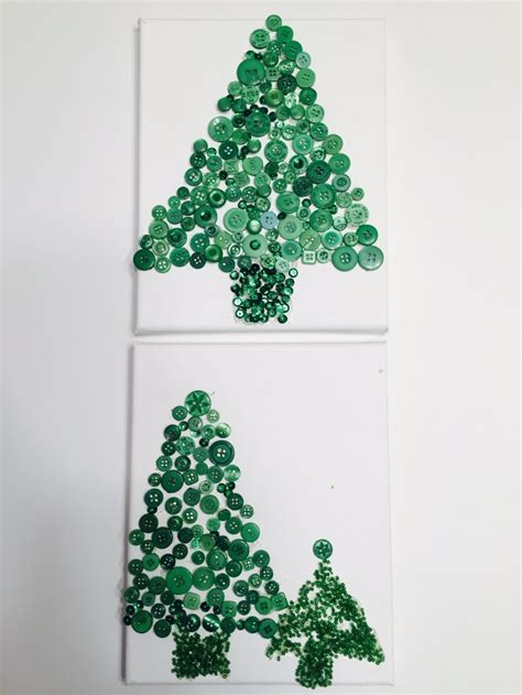 diy button christmas trees
