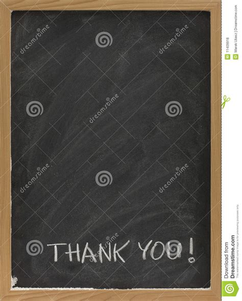 thank you on blank blackboard royalty free stock photos