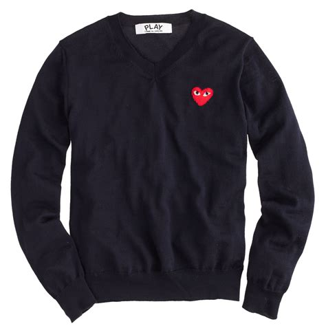 Sweater Comme Des Garcons Zalfa Clothing j crew play comme des gar 231 ons 174 v neck sweater in blue