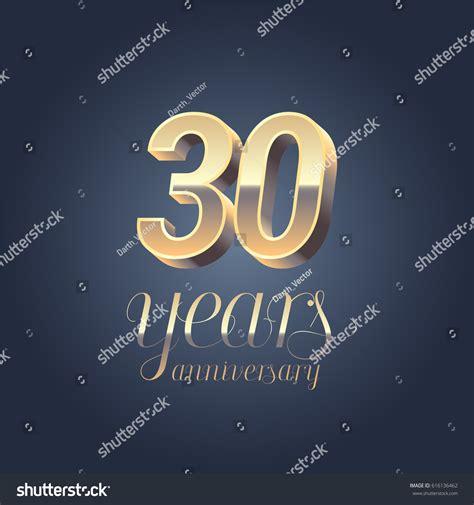 30th anniversary color 30th anniversary vector icon logo gold stock vector