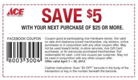 ace hardware promo 5 off 25 ace hardware coupon who said nothing in life