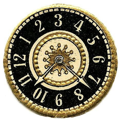 vintage clip art scrap clock faces steampunk the