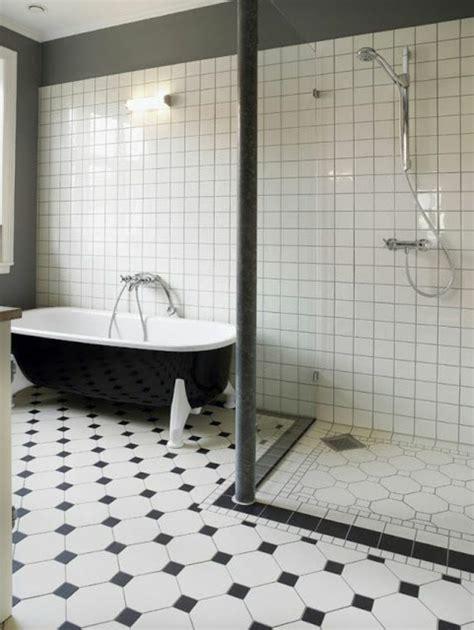 Carrelage Noir Et Blanc le carrelage damier noir et blanc en 78 photos archzine fr