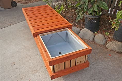 Outdoor Planter Bench by Rolling Bench Planter Container Modern Outdoor