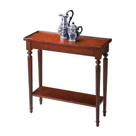 Cherry Sofa Table Shop Butler Specialty Masterpiece Plantation Cherry Rectangular Console And Sofa Table At Lowes