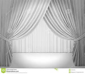 white stage curtain background stock illustration image