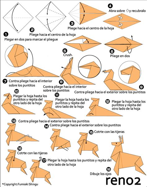 How To Make A Paper Deer - origami reindeer