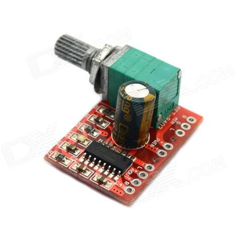 Miniature Mini Speaker Lifier Board Usb Powered 2 X 3w maitech usb powered 5v 3w 3w mini digital lifier board free shipping dealextreme