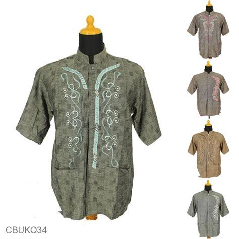 Koko Pendek baju muslim koko pendek dewasa katun bordir koko batik