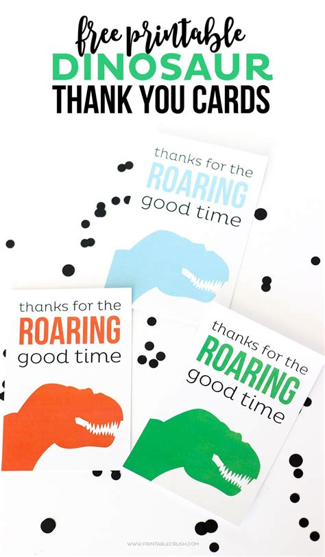 dinosaur thank you card template thank you cards free adorable dinosaur cards