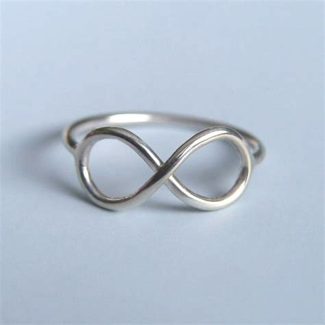 Sterling Silver Infinity Ring Infinity Symbol Ring Sterling Silver Infinity Ring