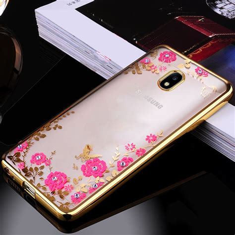 Silico Siamond Mirror Samsung J7 for samsung galaxy j7 2017 flower bling soft tpu clear silicone bumper for samsung