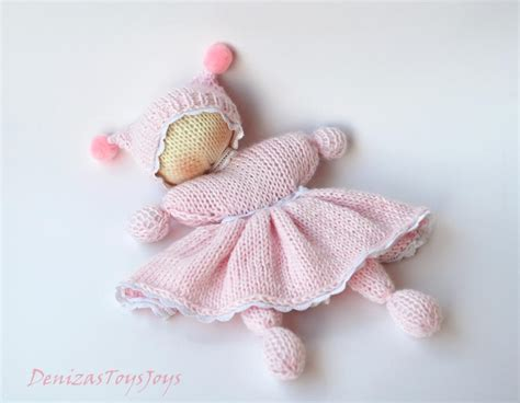 knitted waldorf doll pattern pink waldorf knitted doll by deniza17 craftsy