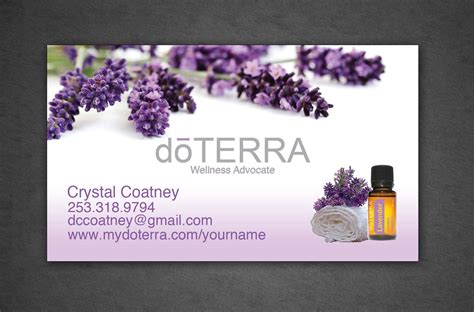 doterra business card template design your own business card template business card sle