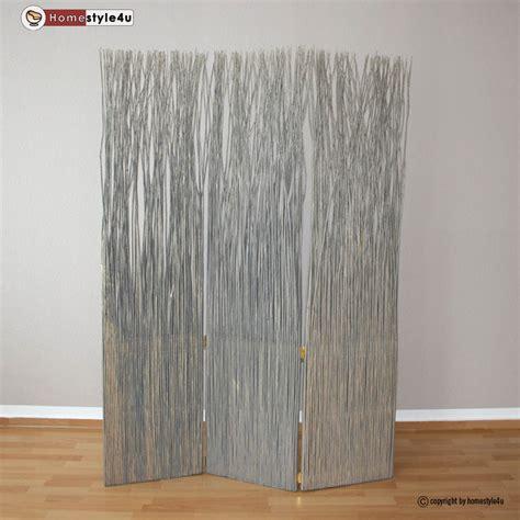 Wohnzimmer Graue Wand 5123 by 3 Fach Paravent Raumteiler Weide Trennwand Weidenparavent