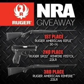Ruger Giveaway - nra ila nra giveaway winner s gallery