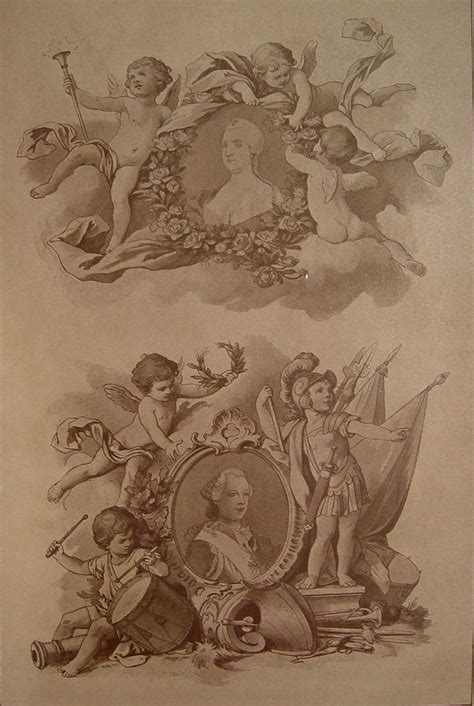 renaissance tattoo designs cherubs putti sepia ornamentation 1890