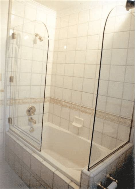 could we get away with only half a glass door on the bath
