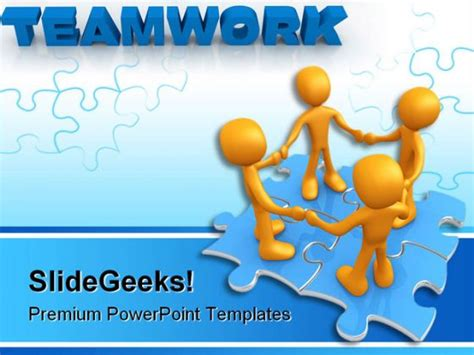 Teamwork Puzzle Business Powerpoint Template 0610 Teamwork Powerpoint Template