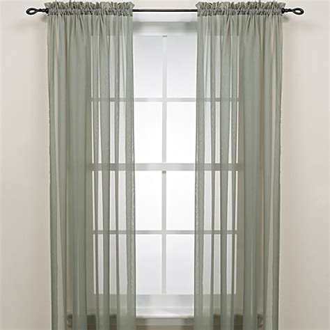 63 sheer curtains buy 63 inch rod pocket sheer window curtain panel in sage