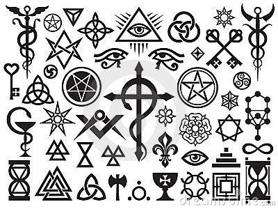 segni illuminati occult signs and magic sts stock image image