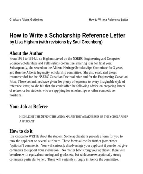 sample reference letter student ms word