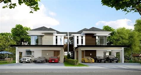 6 semi detached homes united by matching contemporary cool design semi detached house in singapore 2 bedroom