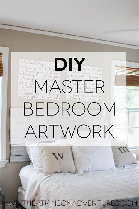 diy wall art bedroom master bedroom diy canvas quote art and a rev artwork