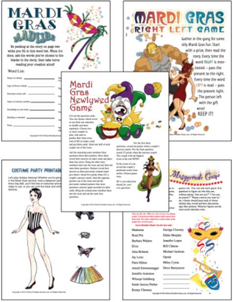 printable games for mardi gras free printable brain games