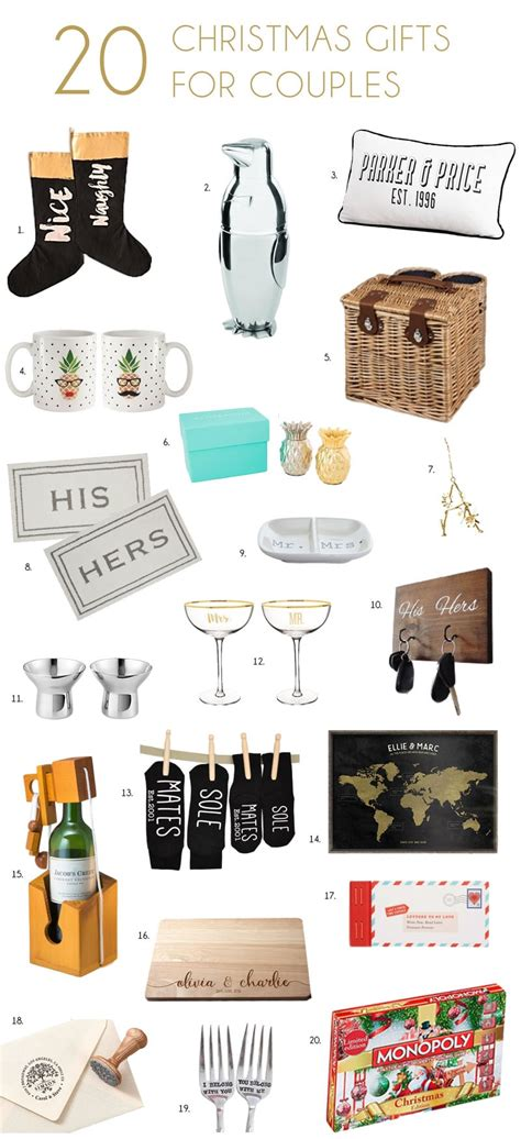 christmas gifts for newlywed couples his n hers gifts for couples