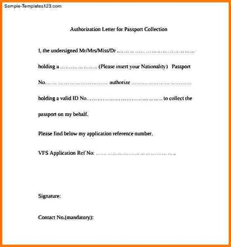 Authorization Letter Report Card 12 Authorization Letter For Passport Card Authorization 2017