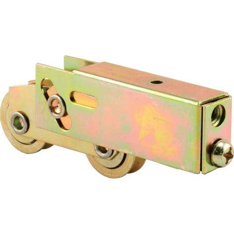 patio door rollers prime line sliding door tandem roller assembly 1 1 4 in steel bearing d 1735 the home depot