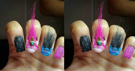 Manicure Rambut troll doll nails tren nail pakai rambut okezone