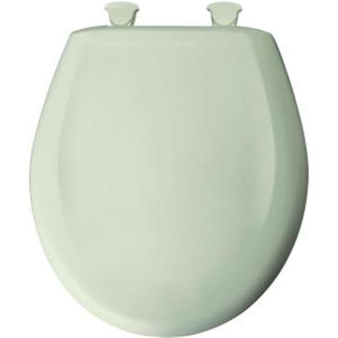 bemis closed front toilet seat in sea mist green