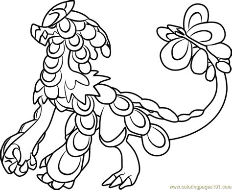 coloring pages pokemon sun and moon kommo o pokemon sun and moon coloring page free pok 233 mon