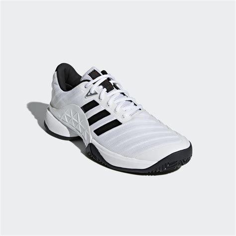 adidas mens barricade 2018 tennis shoes white tennisnuts